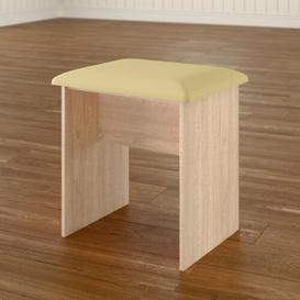 image-Lyndale Dressing Table Stool Marlow Home Co. Colour (Frame): Maple