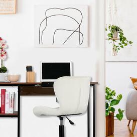 image-Stancil Writing Desk Mercury Row Tabletop/Frame colour: Brown/Black