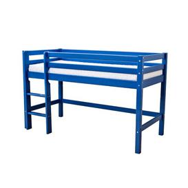 image-Basic Mid Sleeper Bed Hoppekids Bed Size: 90 x 200 cm, Bed Frame Colour: Blue