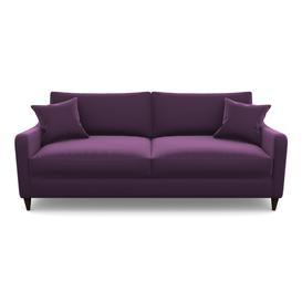 image-Rye 4 Seater Sofa in Clever Glossy Velvet- Blackcurrant