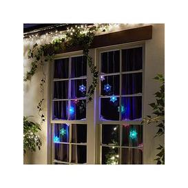 image-Snowflake Colour Changing Curtain Light Christmas Decoration