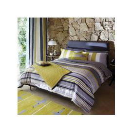 image-Scion Lace Stripe Super Kingsize Duvet Cover, Slate