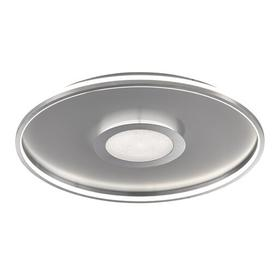 image-Kavanaugh 1-Light LED Flush Mount Ebern Designs Fixture Finish: Chrome, Size: H 1cm x W 44cm x D 44cm