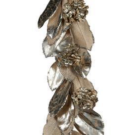 image-A by AMARA Christmas - Magnolia Leaf & Hydrangea Garland - Silver/Champagne