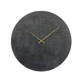 image-Libra Textured Black And Green Aluminium Wall Clock