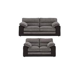image-Delta 3 Seater + 2 Seater Fabric Sofa Set (Buy And Save!)