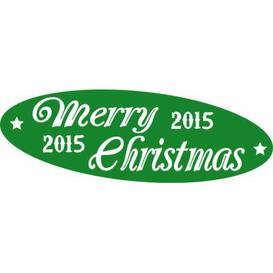 image-Merry Christmas, 2015 Wall Sticker East Urban Home Colour: Light green, Size: 50 cm H x 146 cm W
