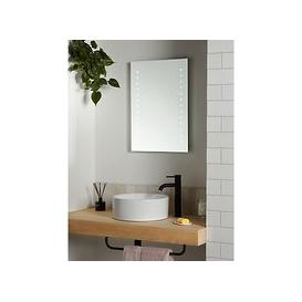 image-John Lewis & Partners Pixel Wall Mounted Illuminated Bathroom Mirror, Small