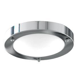 image-Searchlight 1131-31CC Chrome Flush 31cm Bathroom Light I.P44