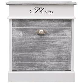 image-Shoe Storage Cabinet House of Hampton Finish: Grey/White