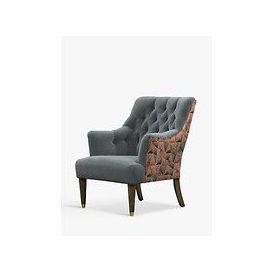 image-Parker Knoll Fitzrovia Armchair, Bracklyn Charcoal with Welton Auburn Back