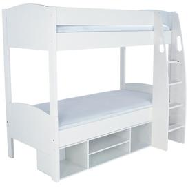image-Stompa Detachable Storage White Round Bunk Bed without Doors
