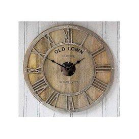 image-Mango Wood Wall Clock - Brown