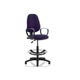 image-Lunar 1 Lever Draughtsman Chair (Fixed Arms), Tansy Purple