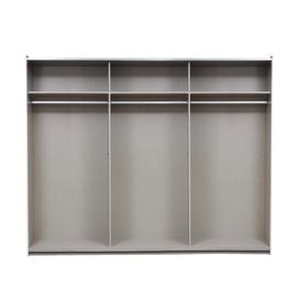 image-Crato Sliding Wardrobe Rauch Size: 210cm H x 261cm W x 58cm D, Finish: Sonoma oak, Interior Option: Basic