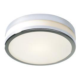 image-Dar CYR5050 Cyro Large Flush Chrome Bathroom Ceiling Light IP44 Rated