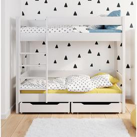 image-Allenport Bunk Bed with Drawers Mack + Milo Size: European Single (90 x 200 cm), Mattress Included: No
