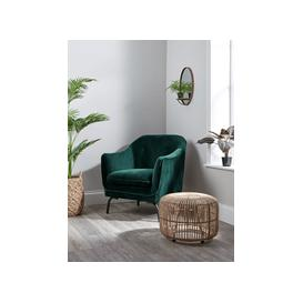 image-Forest Green Velvet Occasional Chair