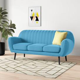 image-Cooper 3 Seater Sofa Hykkon Upholstered: Light blue