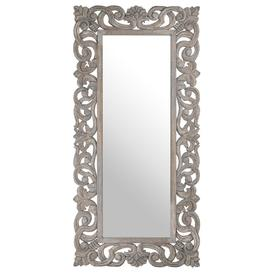 image-Hill Interiors Colonial Grey Painted Wall Mirror - 91cm x 182cm