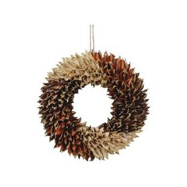 image-Libra Textured Small Orange Wreath - Xmas-18