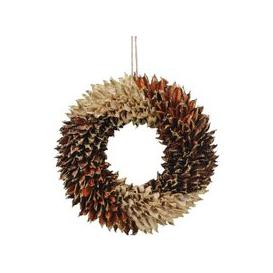 image-Libra Textured Small Orange Wreath - Xmas-18