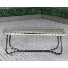 image-Vasto Rattan Garden Coffee Table in Grey