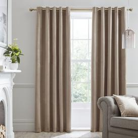 image-Montrose Eyelet Blackout Curtains Laurence Llewelyn-Bowen Colour: Linen, Panel Size: Width 168 x Drop 229 cm
