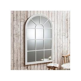 image-Fulham Wall Mirror In White With Window Pane Design