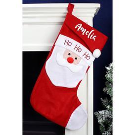 image-Personalised Ho Ho Ho Santa Christmas Stocking