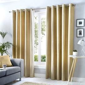 image-Bonanno Summy Eyelet Room Darkening Curtains Mercury Row Colour: Natural, Panel Size: Width 168cm x Drop 229 cm