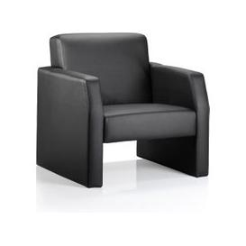 image-Oracle Leather Single Seater Office Reception Chair In Black