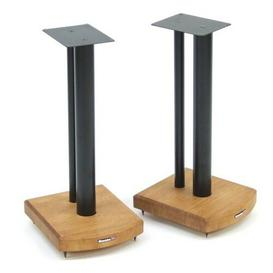 image-50cm Fixed Height Speaker Stand Symple Stuff Finish: Black/Medium Bamboo