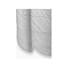 image-Pure Cotton Embroidered Trapunto Bedspread