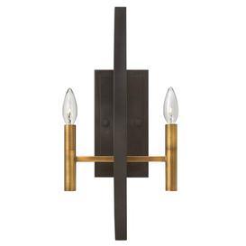 image-Horsham 2-Light Candle Wall Light Ophelia & Co.