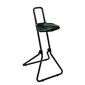 image-Height-adjustable office stool Symple Stuff Frame Colour: Black