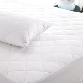 image-Luxury Quilted Hypoallergenic Mattress Protector Symple Stuff Size: Super King (6')