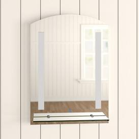 image-Wall Mounted LED Illuminated Bathroom Mirror Symple Stuff