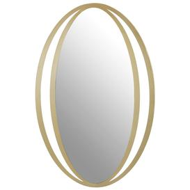 image-Brisbane Gold Double Ring Design Oval Wall Mirror