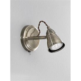 image-SP8951 Bronze Single LED Wall Spotlight