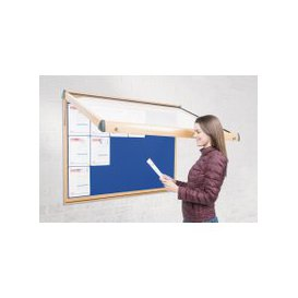 image-Exterior Wood Showcase Noticeboard, Red, Free Standard Delivery