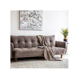 image-Zenko Contemporary Fabric Sofa In Titanium Velvet