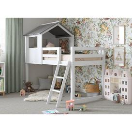 image-White Midsleeper Cabin Bunk Bed
