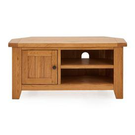 image-Oakville Corner TV Stand Brown