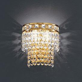 image-Amsterdam Flush Wall Light Voltolina Size/Finish: 16cm W/24 k Gold
