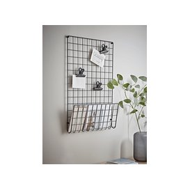 image-Black Grid Magazine Rack