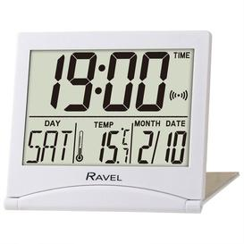 image-Highley Digital Electric Alarm Tabletop Clock Ravel Finish: White