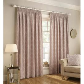 image-Jerry Pencil Pleat Room Darkening Curtains Marlow Home Co. Panel Size: Width 168 x Drop 137cm, Colour: Blush