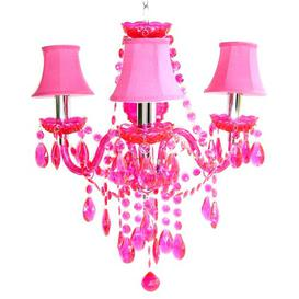 image-Santurius 3-Light Shaded Chandelier Astoria Grand Shade Colour: Fushia