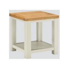image-Andorra End Table - Oak and Stone Painted